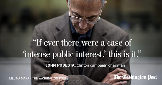 John Podesta: Something is deeply broken at the FBI