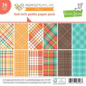 Lawn Fawn PERFECTLY PLAID FALL Petite 6x6 Paper Pack LF1245