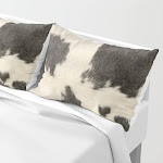 Black & White Cow Hide Pillow Sham by The Ghost Town - STANDARD SET OF 2