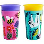 Munchkin Miracle 360 WildLove Sippy Cup, 9 oz, 2 Pack, Bee/Lemur