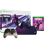 Microsoft - Xbox One S 1TB Fortnite Gradient Purple Special Edition Console Bundle with Extra Phantom Black Controller