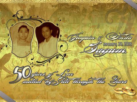 Wedding Tarpaulin (Golden Anniversary by cedricvillanada