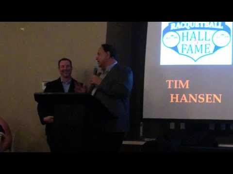 2017 Tim Hansen USA Racquetball Hall of Fame Induction
