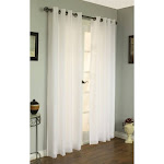 Thermavoile Rhapsody Lined Grommet Top Curtain Panel Ivory