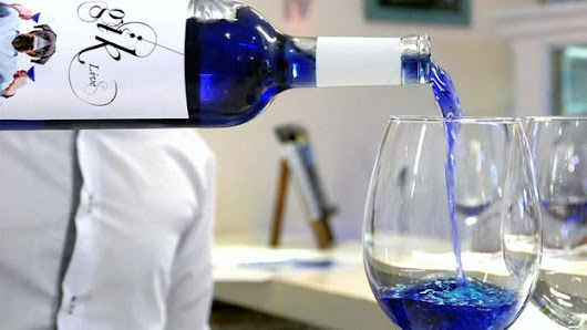 The world's first blue wine
