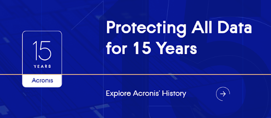 Acronis feiert 15 Jahre der Cyber Protection