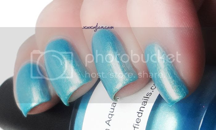 xoxoJen's swatch of Golden Aquamarine from Glitterfied Nails