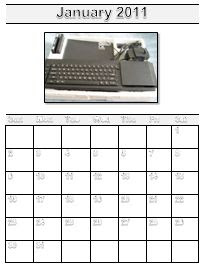 Calendario Sinclair QL 2011 (QaLendar)