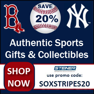 20% Off at Steiner Sports with code SOXSTRIPES20