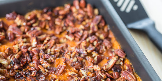 Mashed Sweet Potatoes with Brown Sugar and Pecans