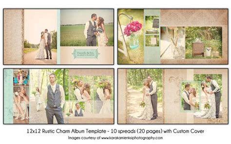 RUSTIC CHARM 12x12 Wedding Album Template 10 spread