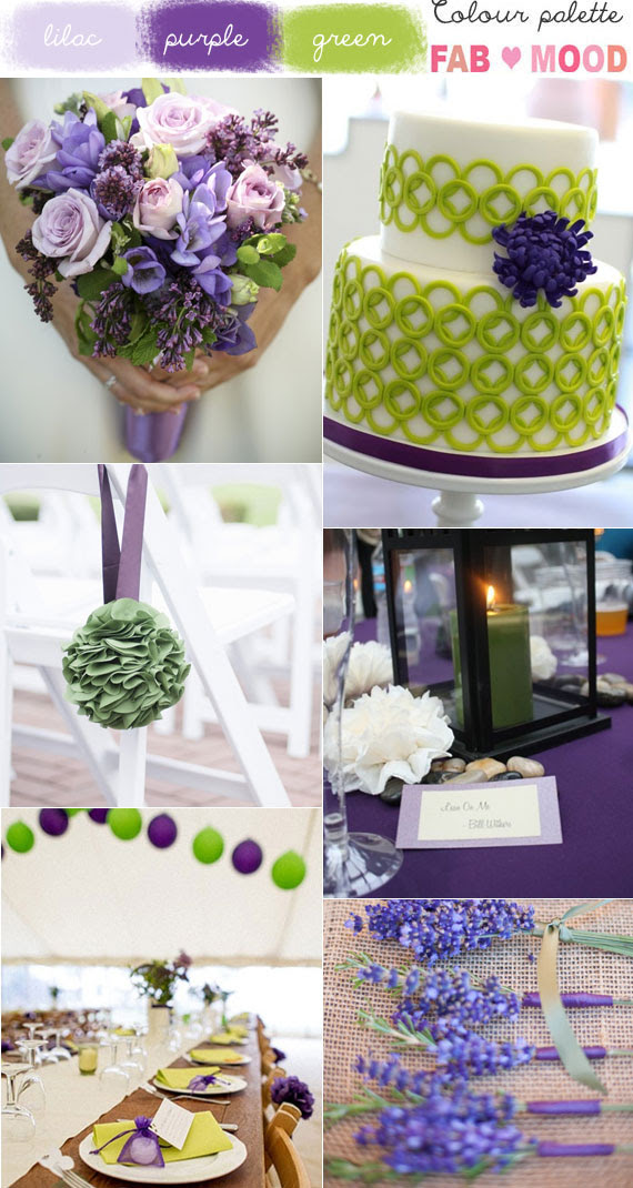 Green Purple Wedding Colors Lilac And Green Wedding Colors