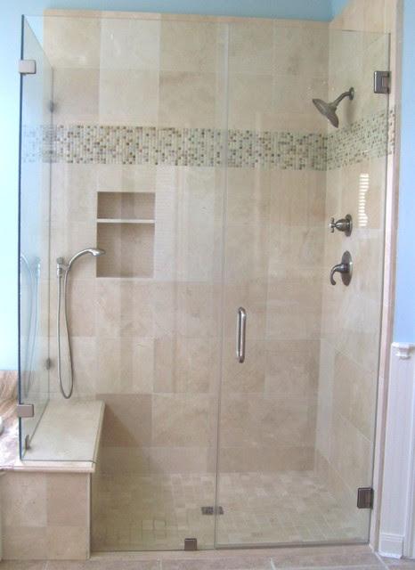 Frameless Shower Enclosure - Traditional - Bathroom ...