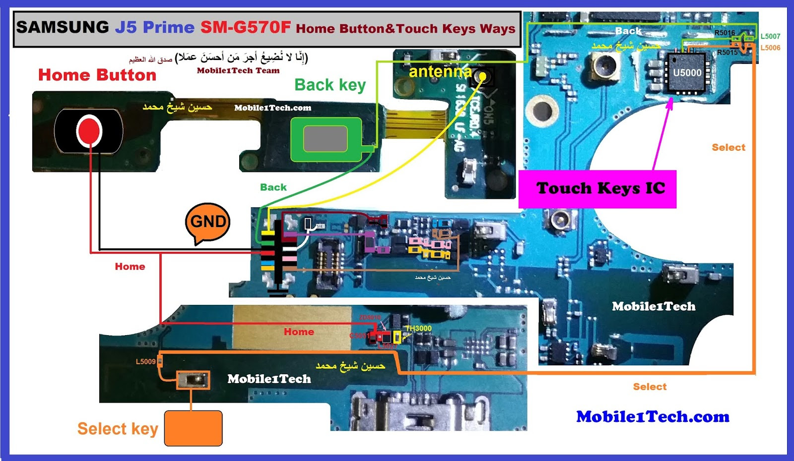 Samsung Galaxy J5 Prime Home Key Button Not Working Problem Solution Jumper