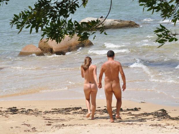 Praia de Pedras Altas, em Palhoça, SC, praia de nudismo (Foto: Divulgação/Portal Brasil Naturista)