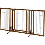 Premium Plus Freestanding Pet Gate with Door Richell