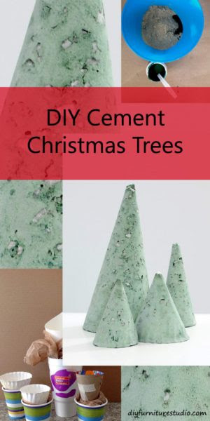 DIY Furniture Studio DIY-Cement-Christmas-Tree