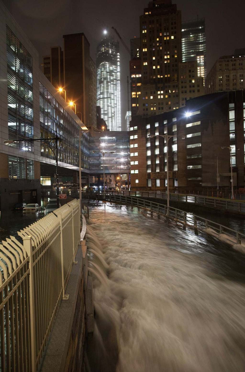 A deluge of water floods the Battery Tunnel in Manhattan as Hurricane Sandy made its approach in New York. Hurricane Sandy is shaping up to be one of the biggest storms ever to hit the United States but even with the severe damage that is expected, the blow to the economy is seen as short-term.