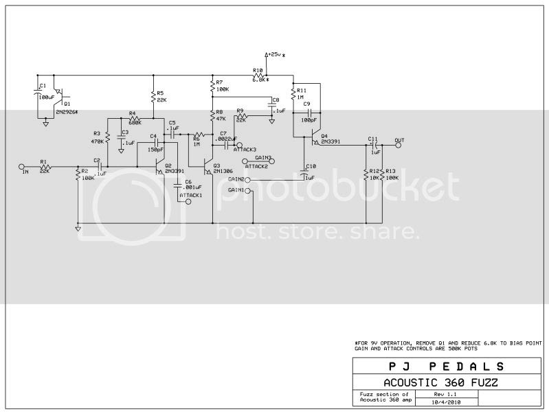 Acoustic 360 Bass Amp Schematic