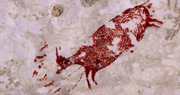 Endonezya'da 44 bin yıllık mağara resmi bulundu