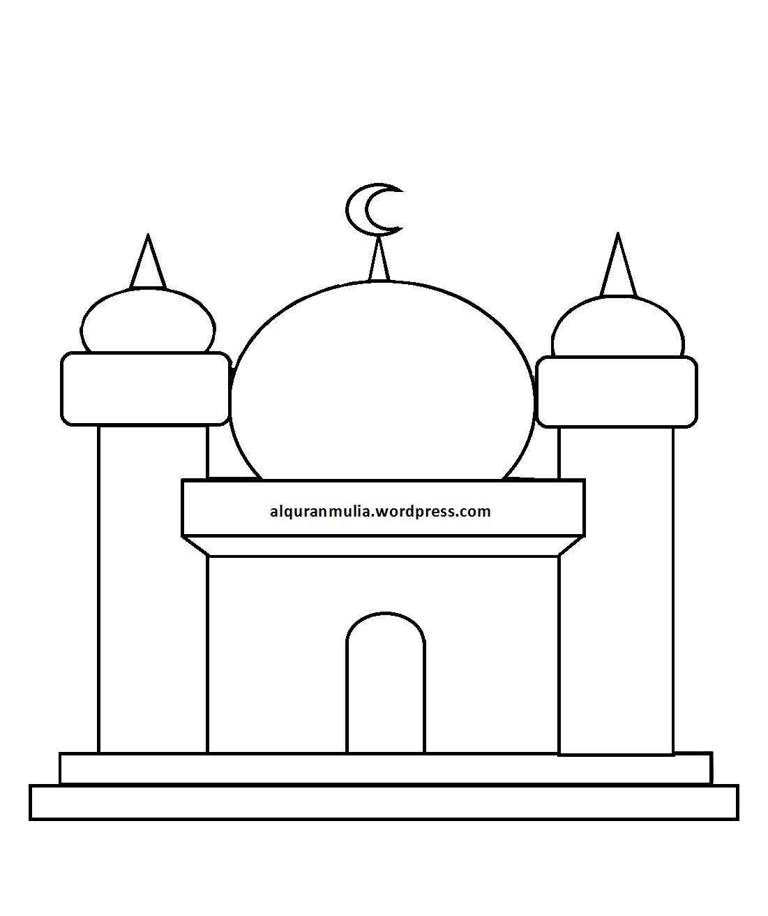 10+ Karikatur Gambar Masjid Kartun