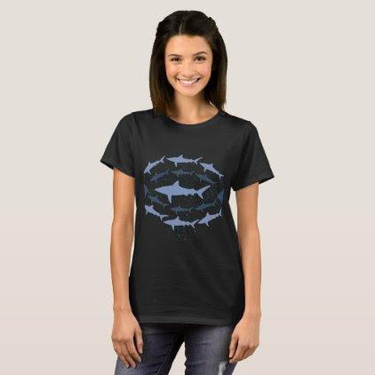 Caribbean Reef Shark Marine Biology Art T-Shirt