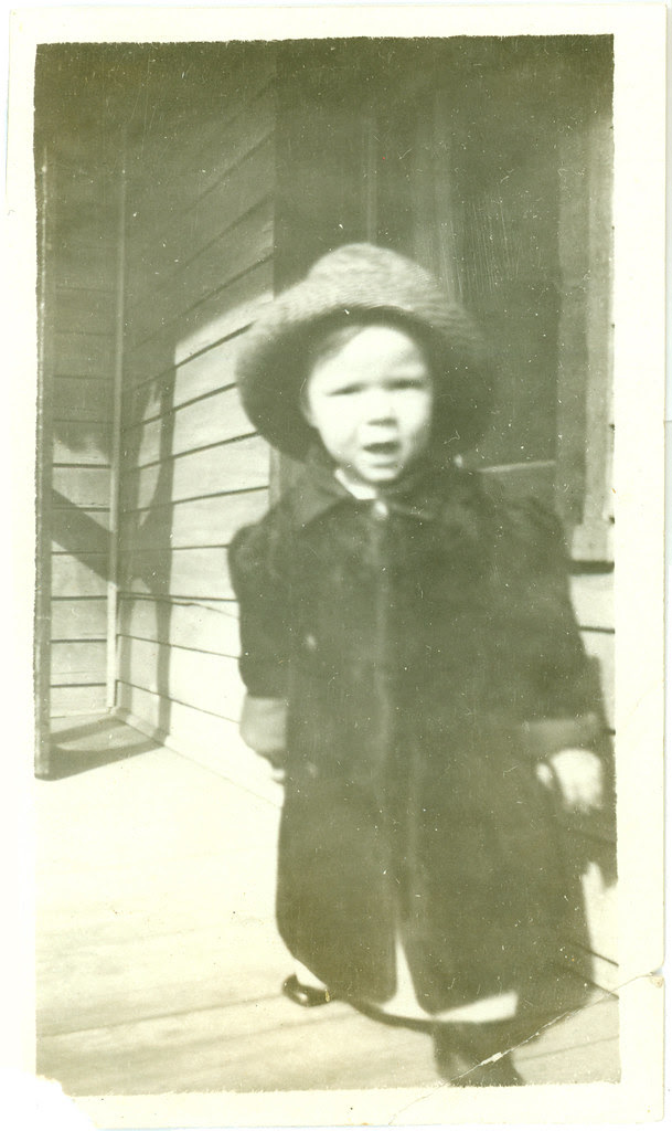 Child on porch