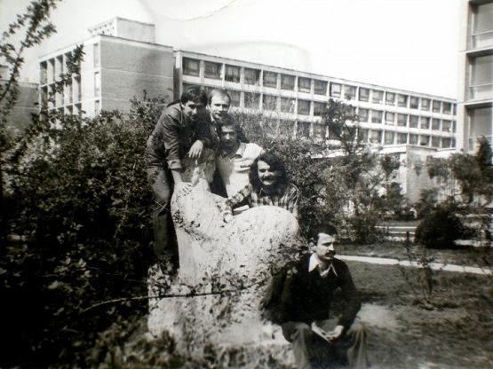 Grozăveşti, 1980: Emil Muşat, Şerban Tomşa, Laurian Câmpeanu, Ion Stratan şi Marin Neagu