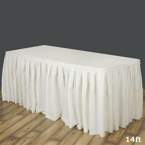 Accordion Pleat Polyester Table Skirt for Kitchen Dinning
