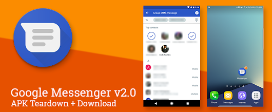 Google Messenger v2.0 adds unread counts to several launchers, brings a new launcher icon, prepares for RCS support, and much more [APK Teardown + Download]