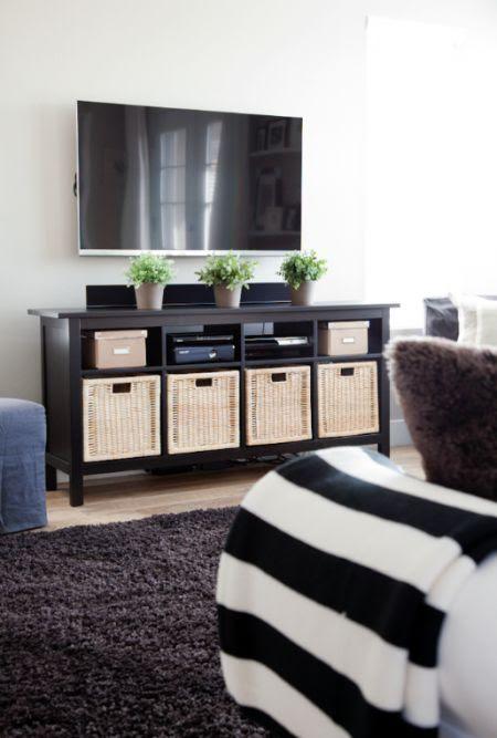 Ikea Hemnes sofa table as a media stand