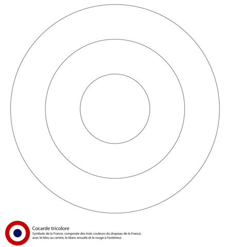 french roundel coloring pages