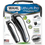 Wahl Lithium Pro Complete Cordless Haircut & Touch Up Kit, 23 Piece, Silver
