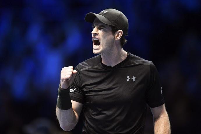 Andy Murray na partida contra Kei Nishikori pelo ATP Finals (Foto: EFE/Will Oliver)