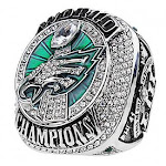 (Size 12, 2017 Philadelphia Eagles) - MVPRING Super Bowl 1966-2019 Replica Championship Ring (Size 11) New England Patriots Philadelphia Eagles Denver