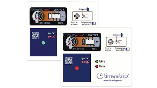 Timestrip launches indicator for controlled room temperatures