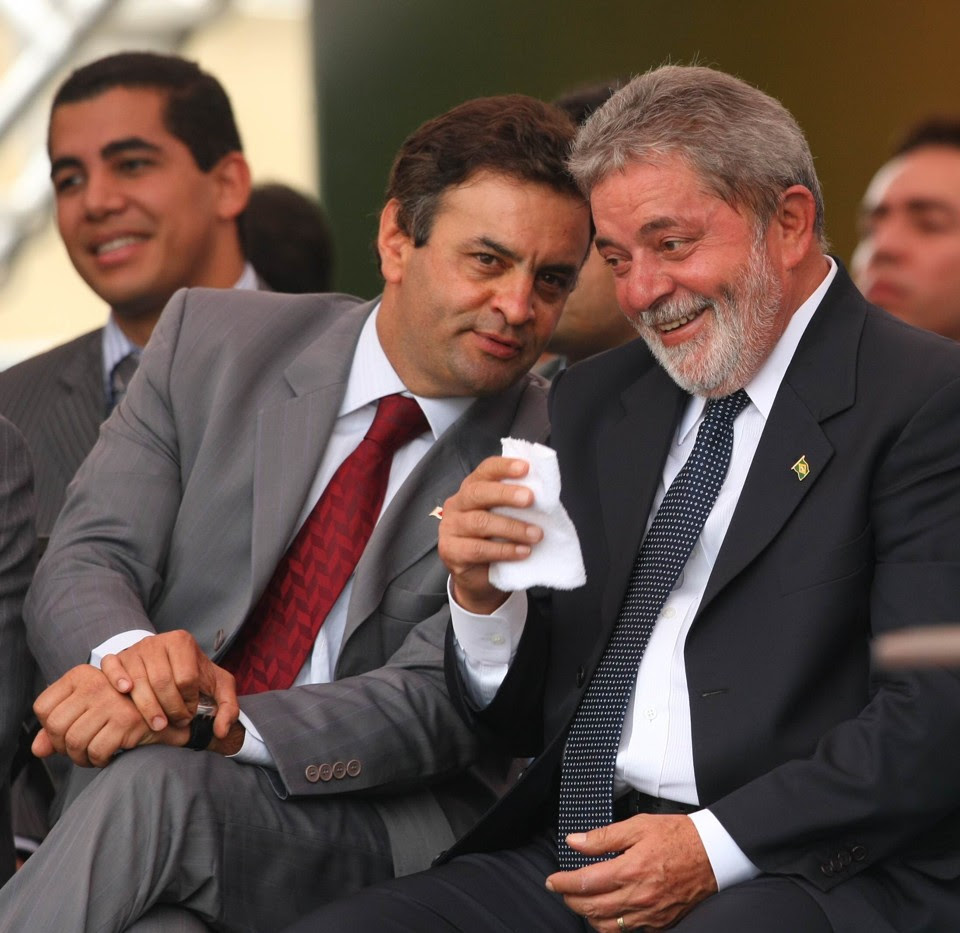 Aécio Neves e Lula