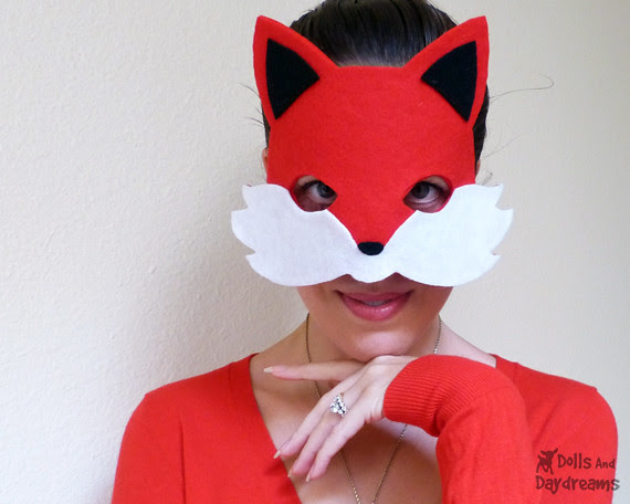 Fox Mask Sewing Pattern Tail Easy DIY Set 1 copy