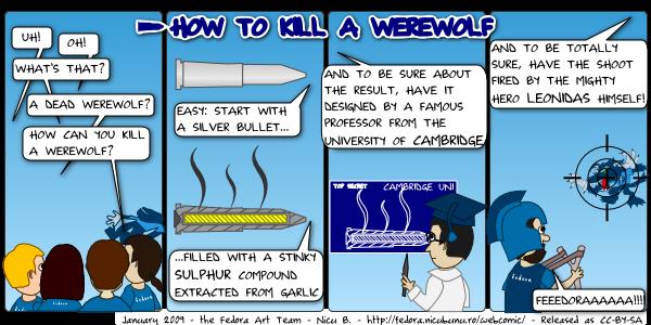 [fedora webcomic: werewolf kill]