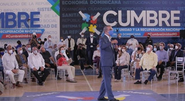 Luis Abinader propone convertir Cumbre por la Unidad y Recuperación en espacio permanente de consulta