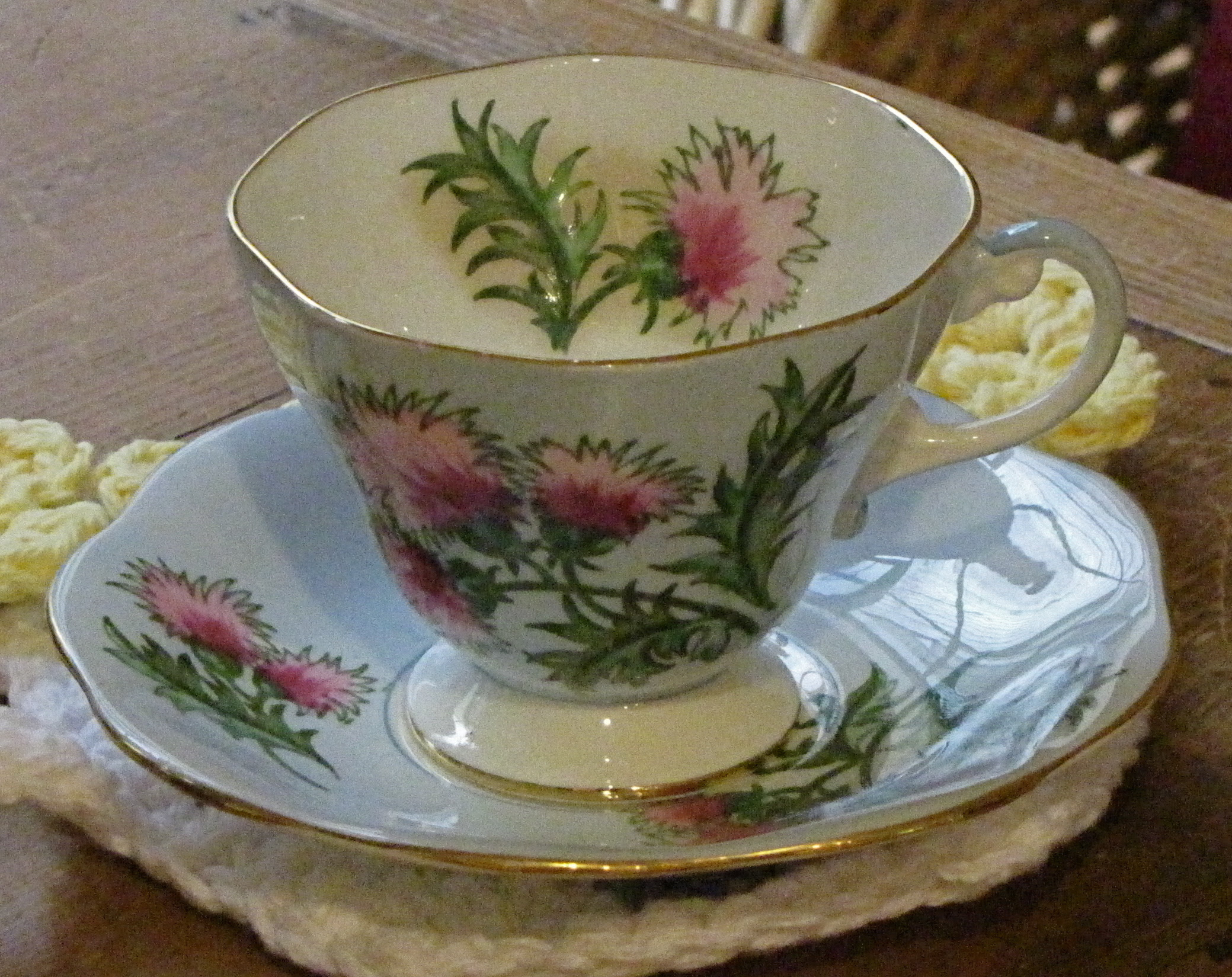 Glencarry Thistle Tea Cup