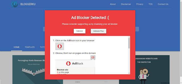 Anti Adblock Blogger dari Bloggerku