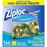 Ziploc 1/2 Gallon Freezer Bags (144Count),