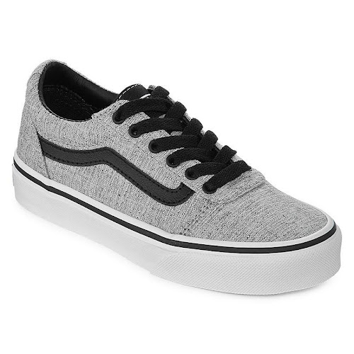 7ab3b5967c Vans Boys Ward Low-Top Text Grade-school Shoes Sneakers - Google Express