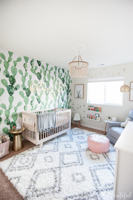 Cactus and Llama Baby Girl Nursery Reveal! - Dwell Beautiful