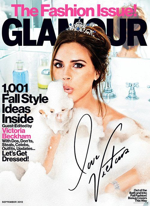 Glamour - September 2012, Victoria Beckham