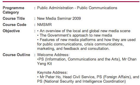 Civil Service College - New Media Seminar 2009