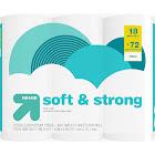Soft & Strong Septic Safe Toilet Paper - 18 Mega Rolls - Up&Up