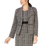 Kasper Women's Topper Jacket True Black Beige