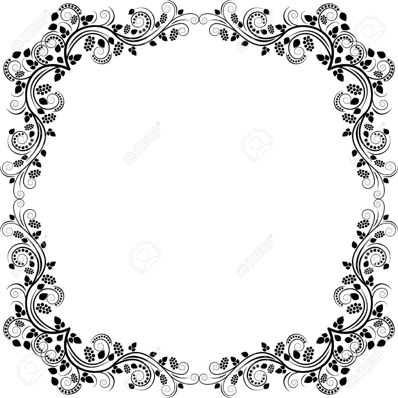 Floral Frame Clip Art Clipart Panda Free Clipart Images